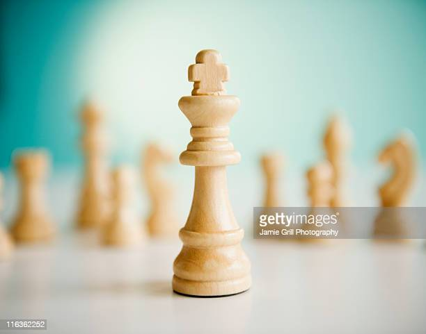 Studio shot of king chess piece