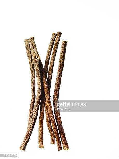 Studio shot of licorice sticks