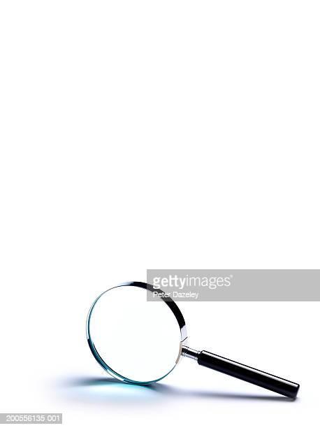 Studio shot of magnifying glass on white background