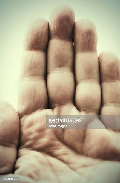 Studio shot of male hand