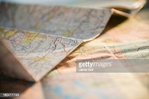 Studio Shot of maps
