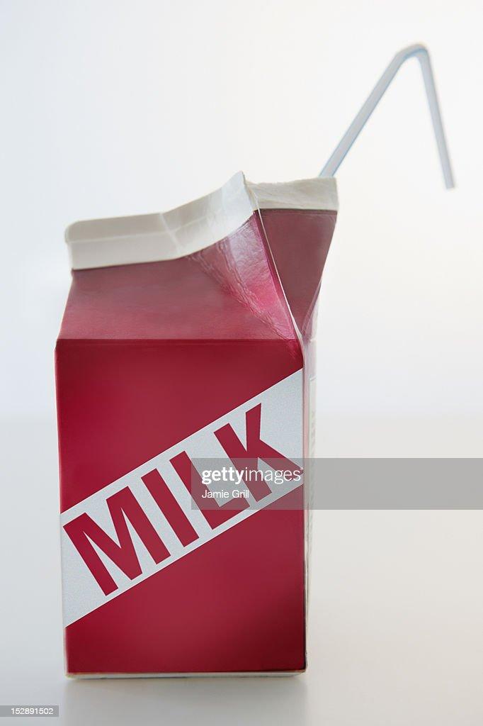 Studio Shot of milk carton