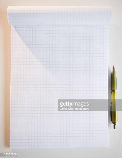 Studio shot of notepad