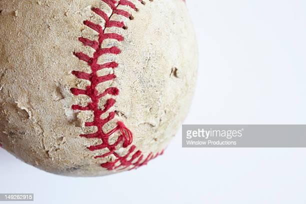 Studio shot of old baseball ball