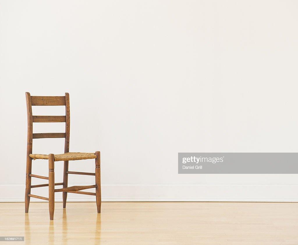 Studio shot of old chair