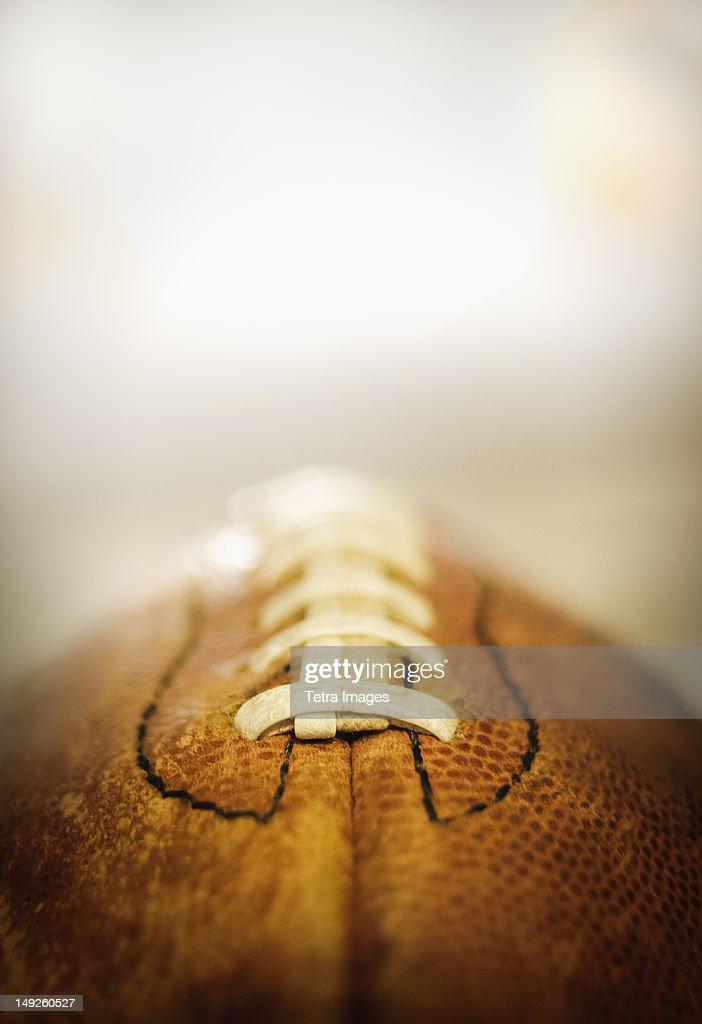 Studio shot of old football