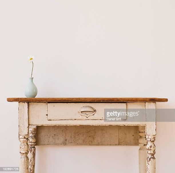 Studio shot of old-fashioned desk