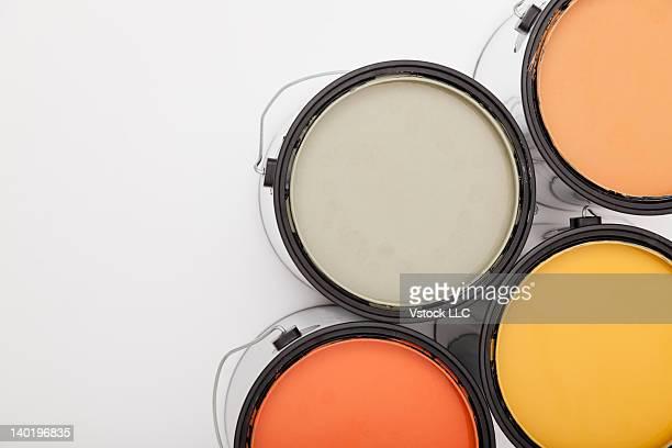 Studio shot of paint cans