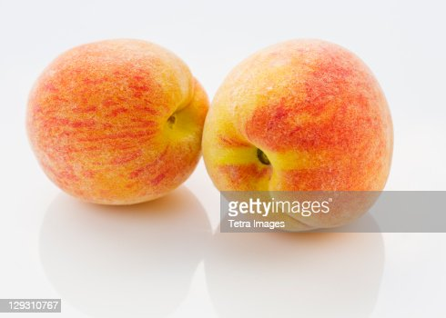 Studio shot of peaches