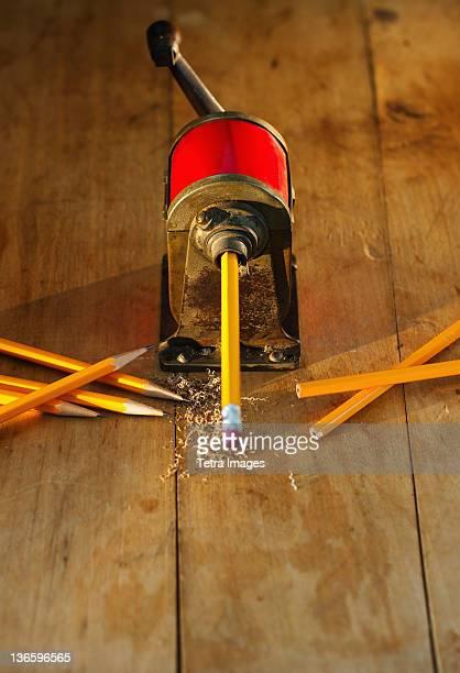 Studio shot of pencil sharpener