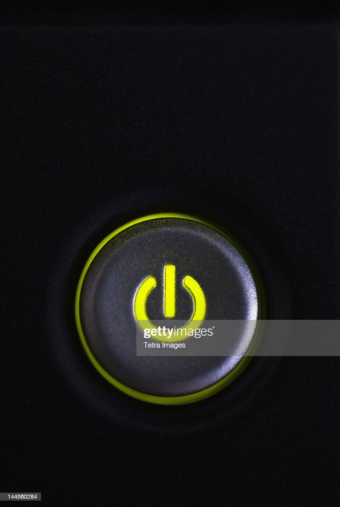 Studio shot of power button