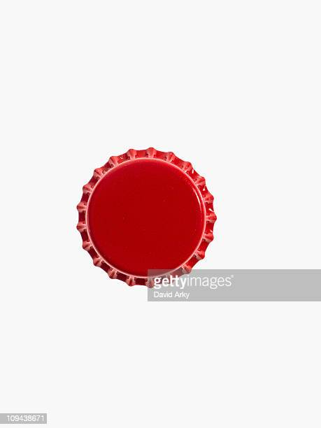 Studio shot of red bottle cap
