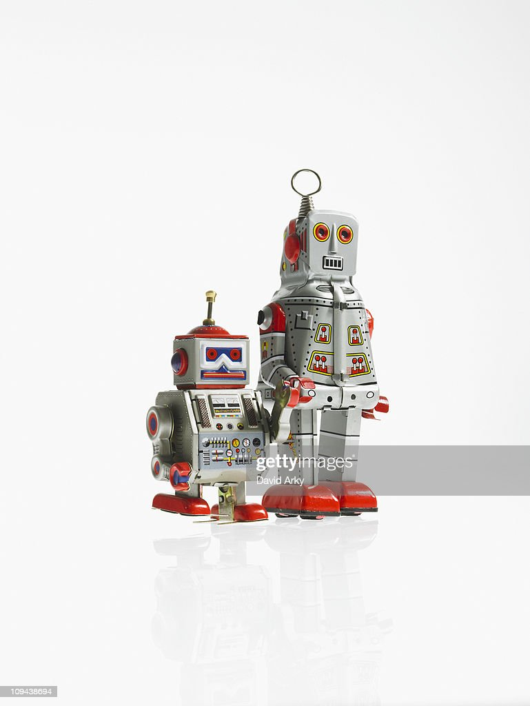 Studio shot of robots : Stock Photo