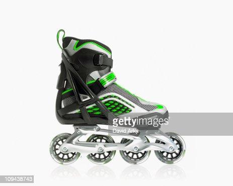 Studio shot of rollerblade shoe
