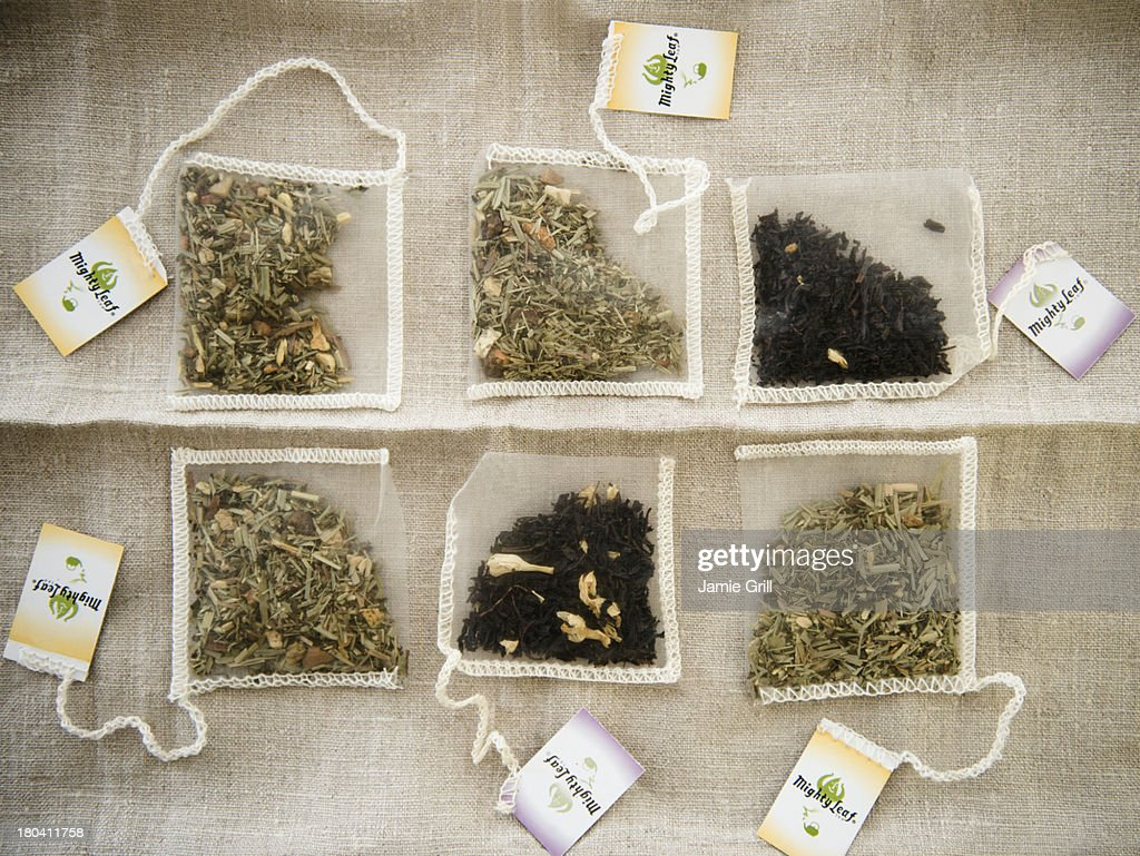 Studio Shot of selection of herbal tea