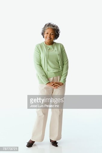 Studio shot of senior African woman