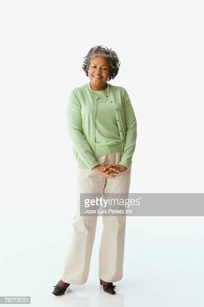 Studio shot of senior African woman