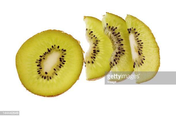 Studio shot of slices of kiwifruit