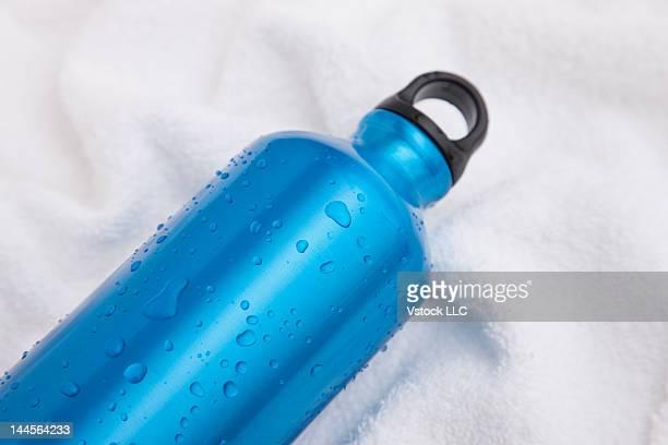 Studio shot of sports water bottle