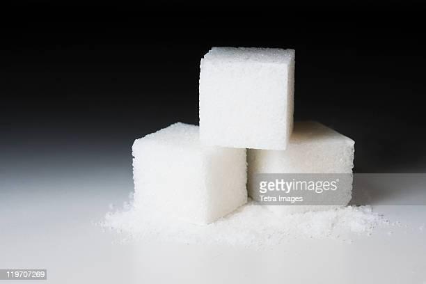 Studio shot of sugar cubes