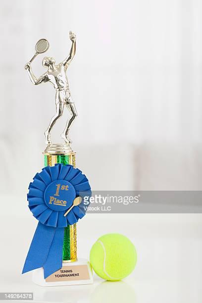 Studio shot of tennis trophy