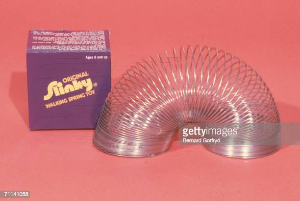 Studio shot of the Slinky spring toy 1980s