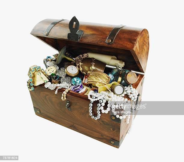 Studio shot of treasure chest