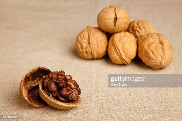 Studio shot of walnuts