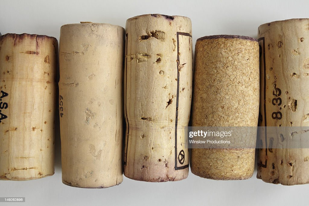 Studio shot of wine corks