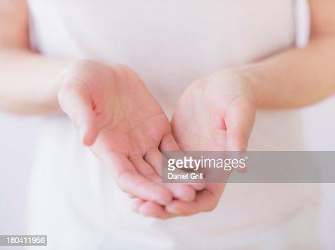 Studio Shot of woman's hands