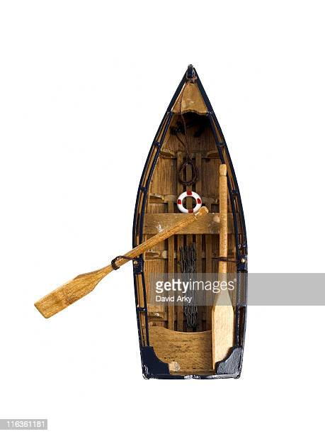 Studio shot of wooden boat