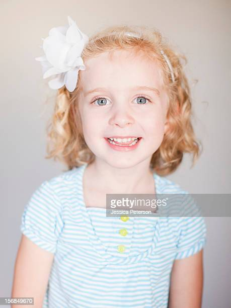 Studio Shot, Portrait of smiling girl.