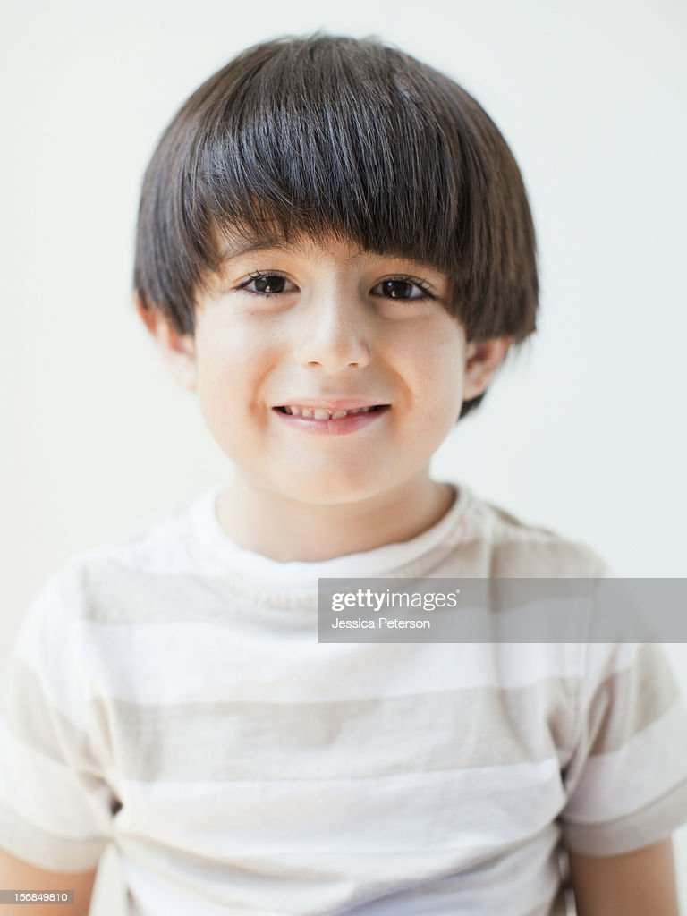 Studio Shot, Portrait of young boy : Stock Photo