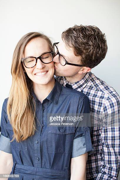 Studio Shot, portrait of young couple