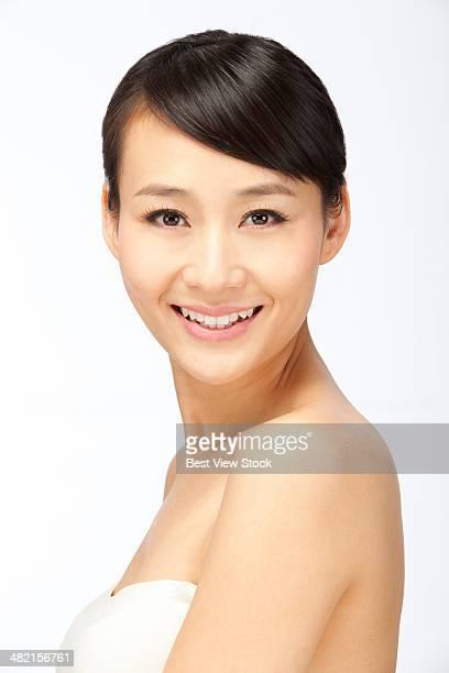 studio shot young woman