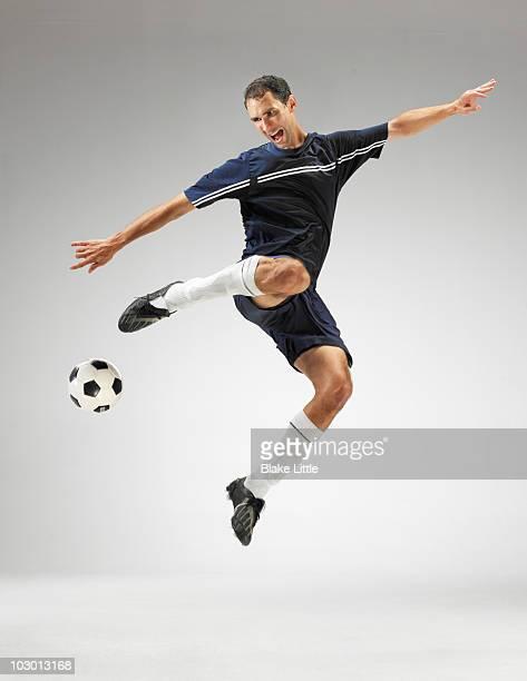 Studio soccer player