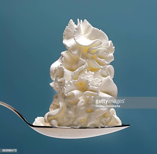 Studio still life of a spoonful of whipped cream to illustrate a story on ketogenic diet The high–fat ketogenic diet around since the 1920s helps...