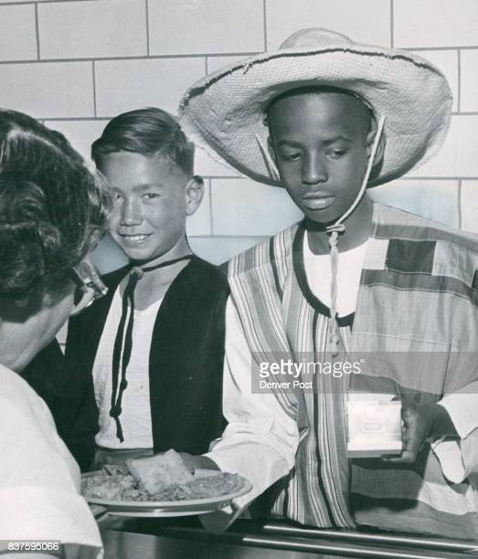 Study Dinner Social studies pupils at Barrett Elementary School 2900 Jackson St last week wore Mexicantype costumes and dined on a South of...