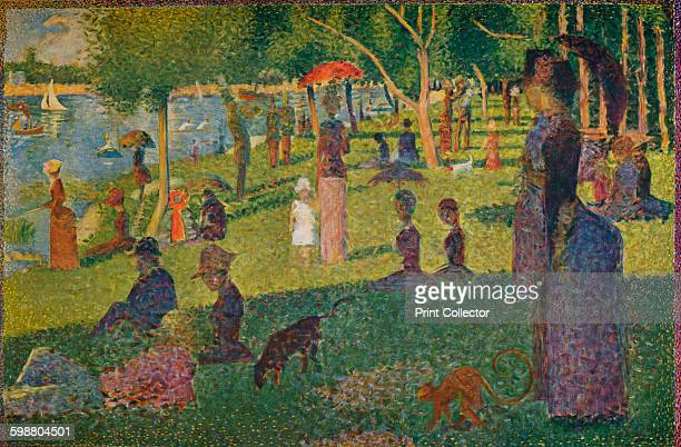 Study for A Sunday on La Grande Jatte 1884 Painting held at The Metropolitan Museum Of Art New York From Die Meister Des XX Jahrhunderts II [Verlag E...