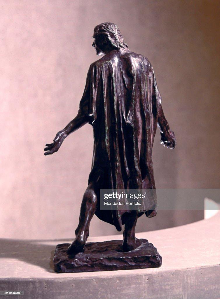 Study for the Burghers of Calais (Les Bourgeois de Calais, maquette), by François-Auguste-René Rodin, 19th Century, bronze. France, Paris, Rodin Museum. Detail. Jean de Fiennes seen from behind.