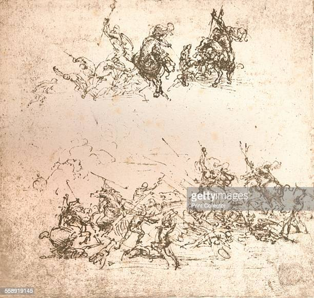 Study for the cartoon of the Battle of Anghiari c1472c1505 From The Literary Works of Leonardo Da Vinci Vol 1 by Jean Paul Richter PH DR [Sampson Low...