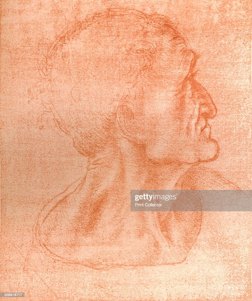 Study for the head of Judas in `The Last Supper`, c1494-c1499 (1883). From The Literary Works of Leonardo Da Vinci, Vol. 1 by Jean Paul Richter, PH. DR. [Sampson Low, Marston, Searle & Rivington, London, 1883].