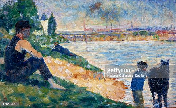 A Study for 'Une Baignade' by Georges Seurat 1883 Oil on panel