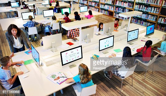 Study Studying Learn Learning Classroom Internet Concept : Stock Photo
