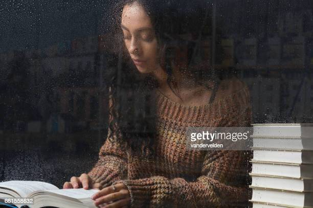 Studying on a rainy day