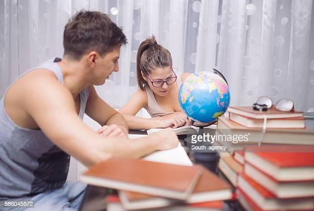 Studying the globe