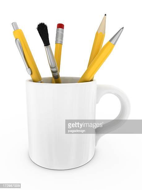 stuff in mug