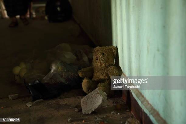 A stuffed animal which was left behind at Phnom Penh's iconic White Building It was built in 1963 as a modern Municipal Apartment The iconic building...