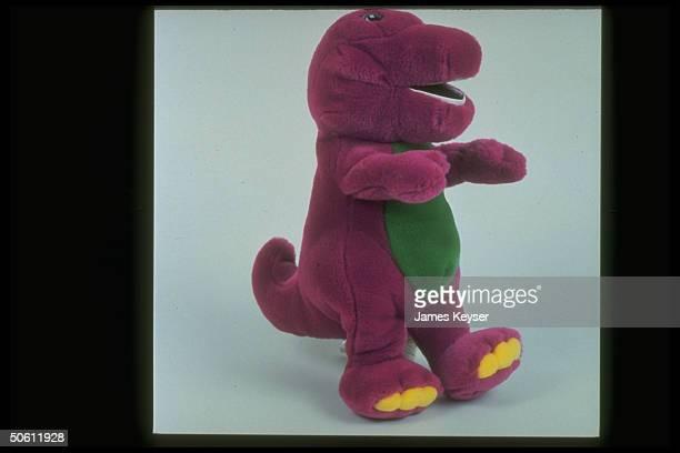 Stuffed Barney the dinosaur star character of popular public TV children's show Barney Friends