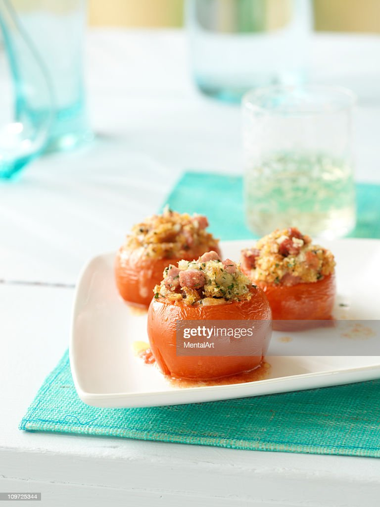 Stuffed Tomatoes : Stock Photo